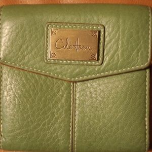 Cole Haan lime green leather wallet, nwot
